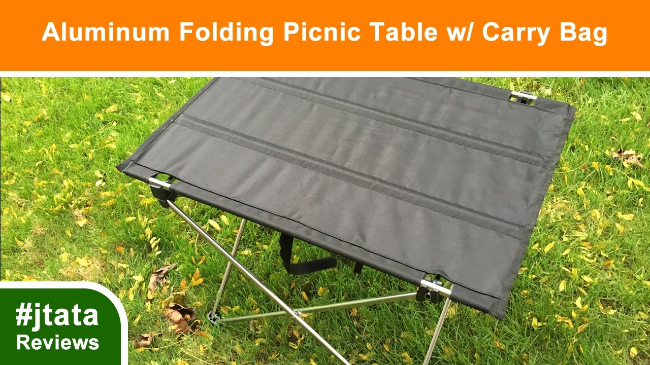 Aluminum Folding Picnic Table With Carry Bag From Susufaa