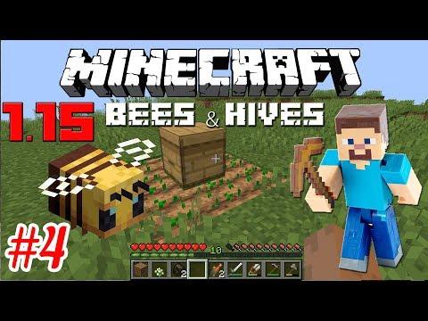 Minecraft 1.15 - Пчеловодство - Как завести своих пчел в Minecraft. Выживание #4