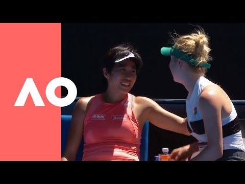 Elina Svitolina shows love to Shuai Zhang after a devastating loss (3R) | Australian Open 2019