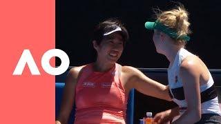Elina Svitolina shows love to Shuai Zhang after a devastating loss (3R) | Australian Open 2019