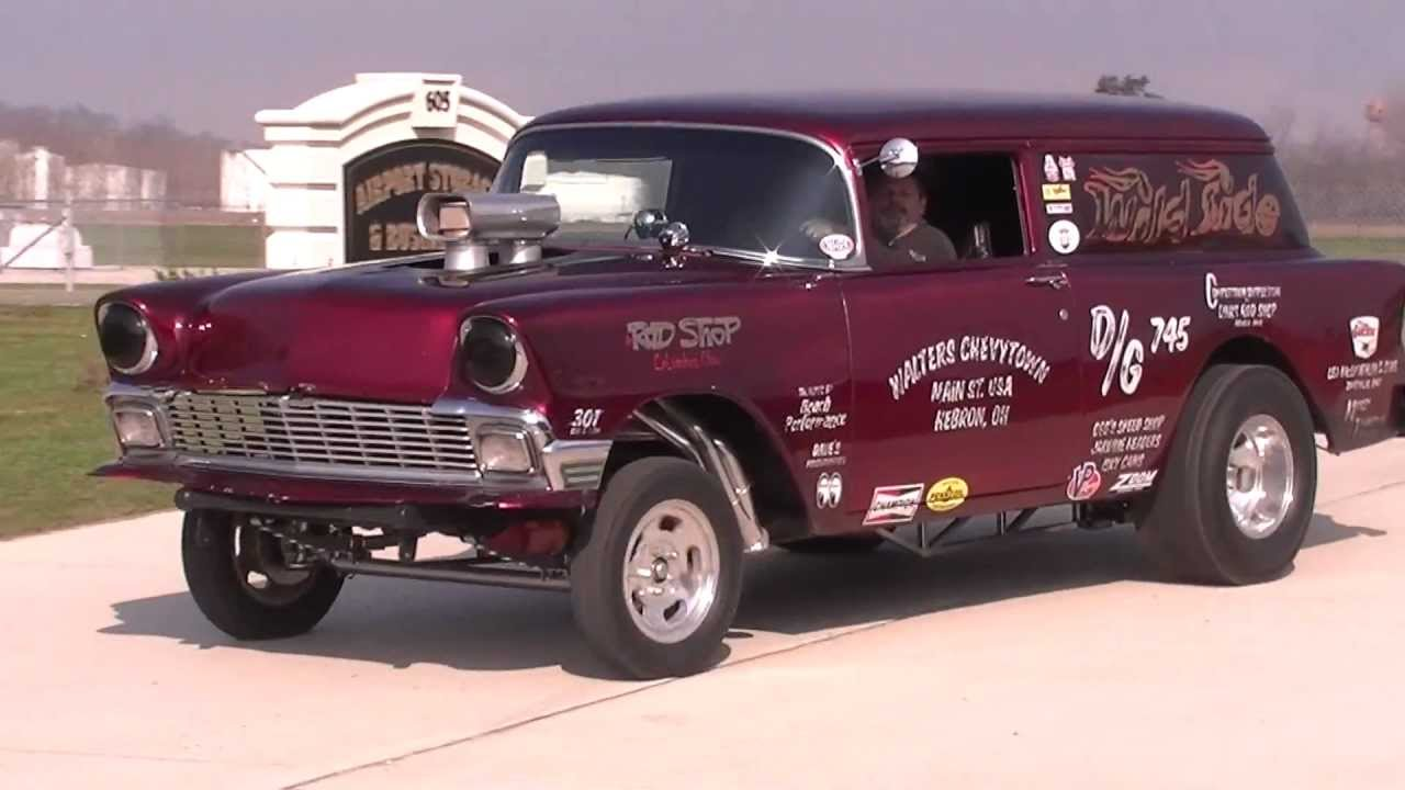 Old School 56 Chevy race car - YouTube