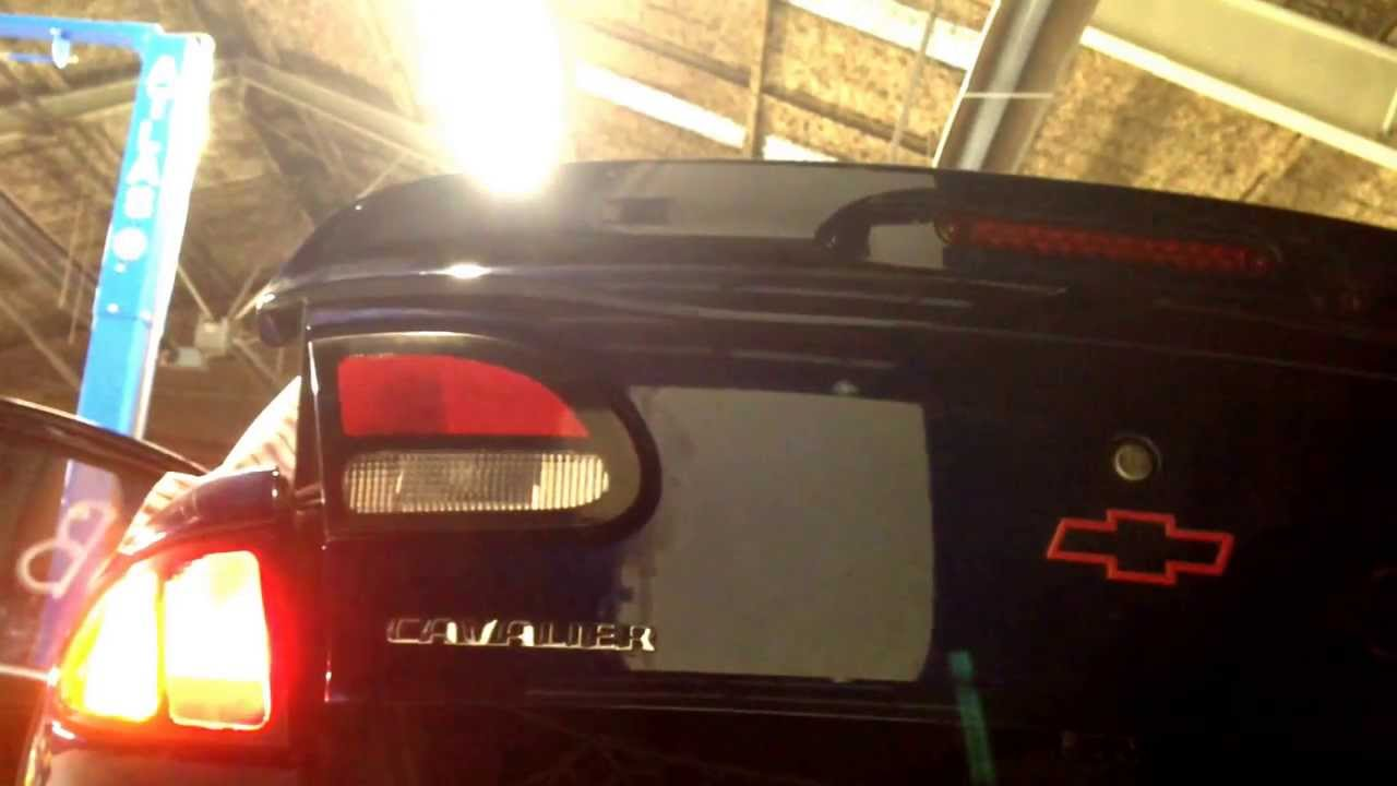 Toyota Cavalier Tail Lights Low Turn Signal Wired To Parking