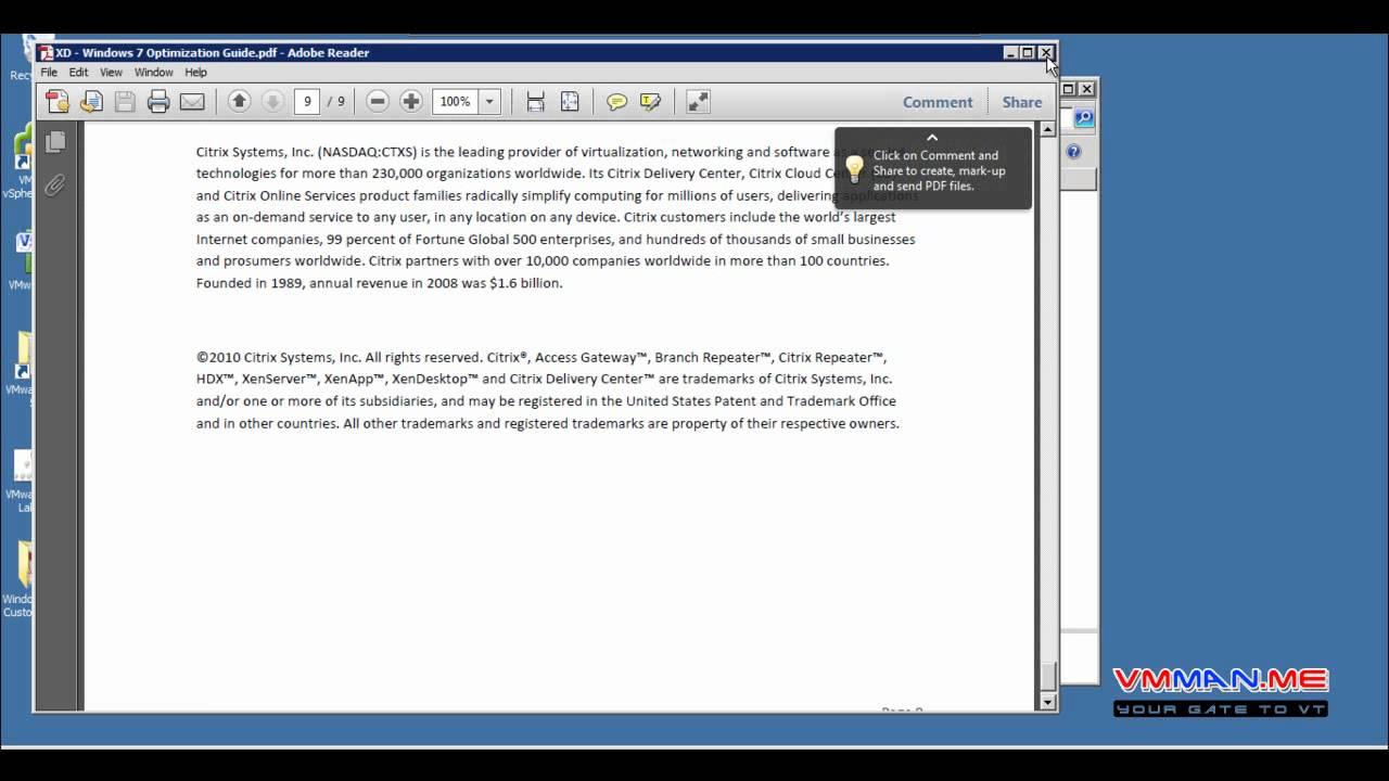 Part 5 : VMware View 5 Windows OS Customization