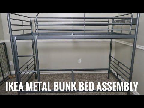 How to Assemble Ikea Svarta Metal Twin Bunk Bed