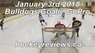 January 3rd 2018 Bulldogs Hockey Goalie GoPro