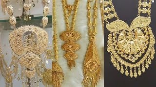 Latest Gold Necklace Arabic Designs