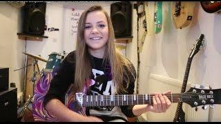 Zoe Thomson One Hundred Sleepless Nights Pierce The Veil Guitar Cover