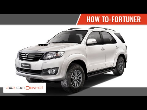 How to Engage 4 Wheel Drive in Toyota Fortuner   CarDekho.com