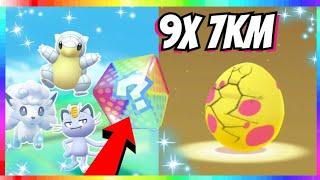 9x 7km Alolan Egg Hatching & Pokedex Entry Trade in Pokemon Go!