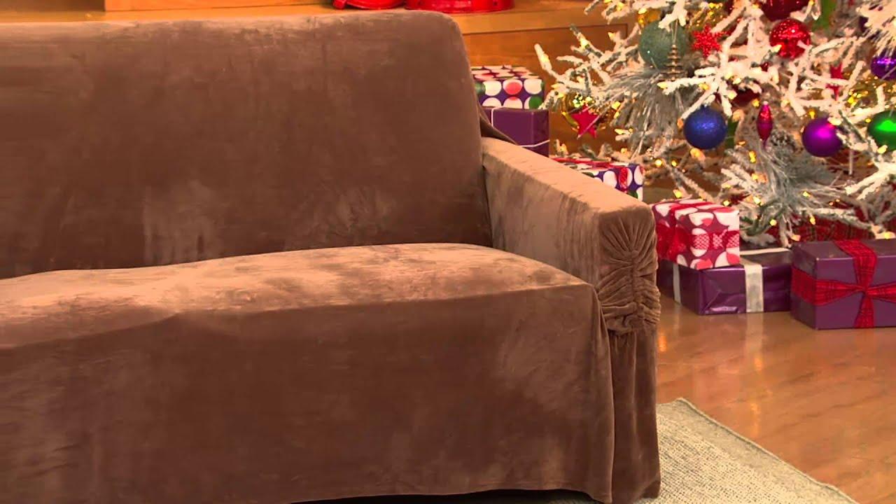 Sure Fit Stretch Plush Sofa Furniture Cover with Jennifer Coffey