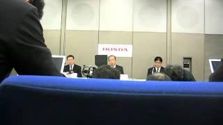ホンダ第3四半期決算発表、ビデオ付き.