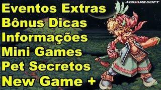 Vídeo Extra de Legend of Mana (PS1) - Dicas,segredos,informações e New Game +