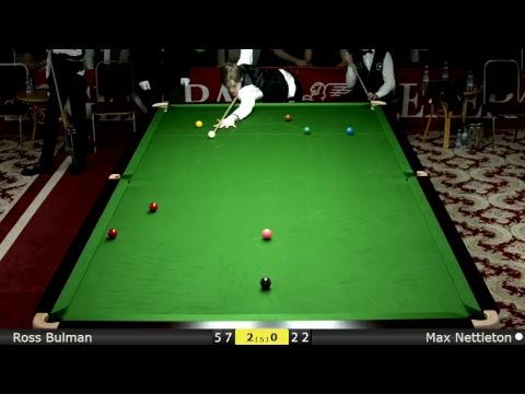 Snooker U18 Groups : Ross Bulman vs Max Nettleton