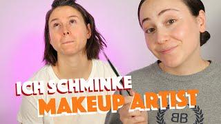 Youtuber schminkt Makeup Artist 🤡Wie wird Sie darauf reagieren?