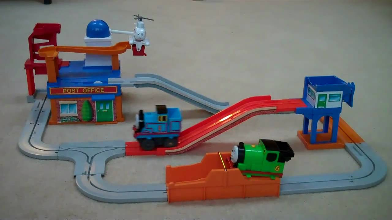 Tomy Post Office Thomas The Train Loader Set Percy Harold Kids Toy Tank You