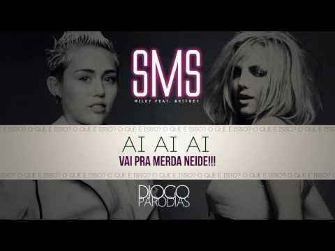 Miley Cyrus feat Britney Spears   SMS Paródia Redublagem diogo s