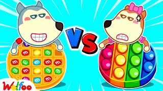 Wolfoo and Lucy Play Chocolate Pop It Challenge - Kids Stories About Wolfoo Family   Wolfoo Family