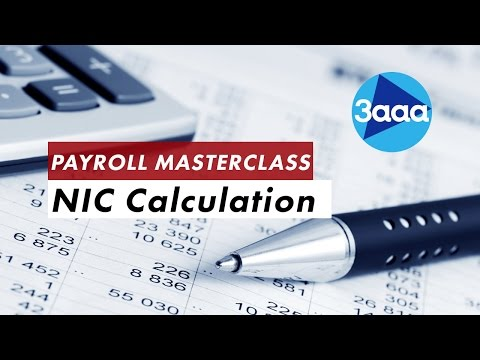 Payroll Masterclass   NIC Calculation