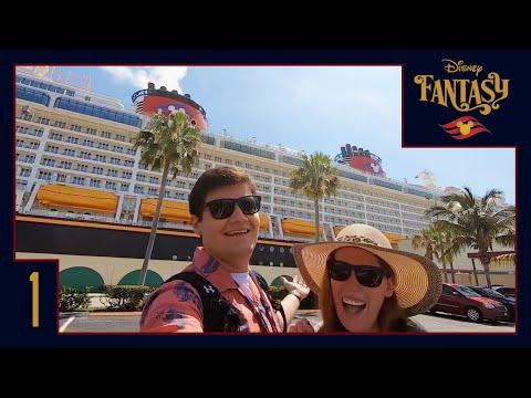 Disney Fantasy Vlog 1 | Welcome Aboard the Disney Fantasy!