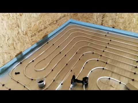 Водяной теплый пол по деревянному перекрытию. Бюджетная намотка