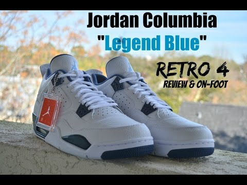 af279fd88043ce Nike Air Jordan IV 4 Columbia Legend Blue GS Review   On Feet YouTube  Premium YouTube Premium