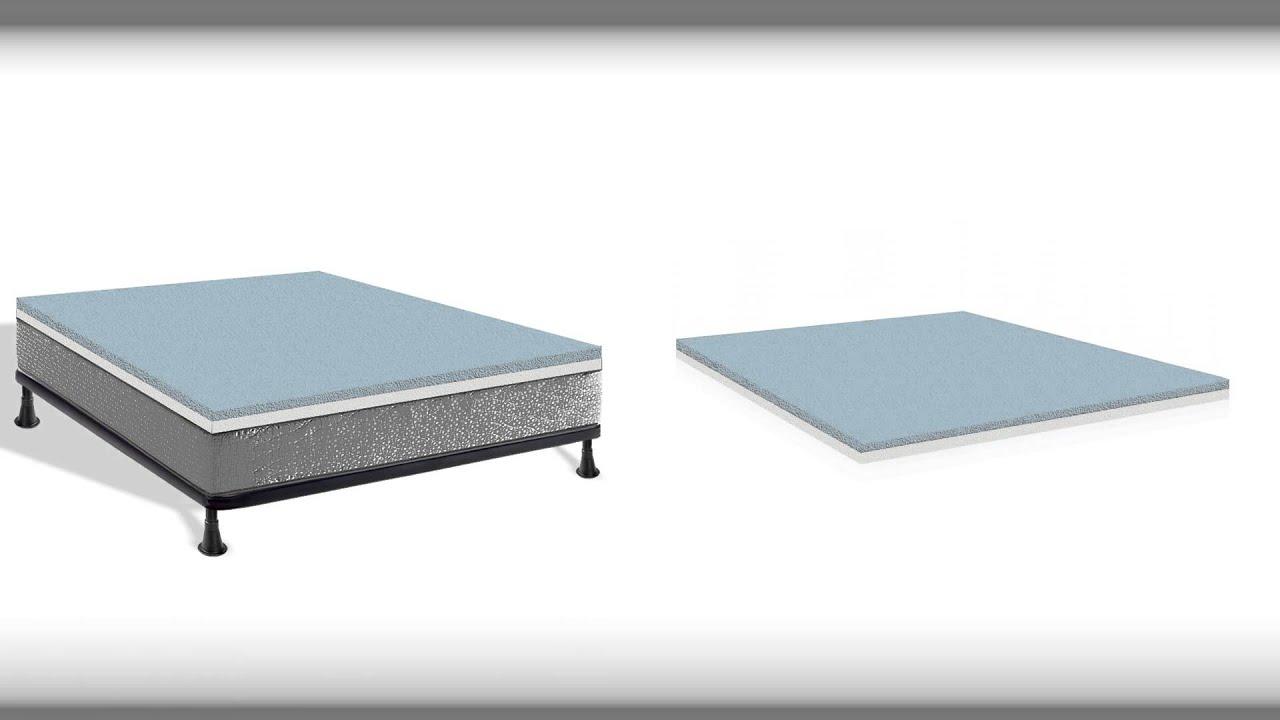continental sleep gel infused high density foam mattress topper