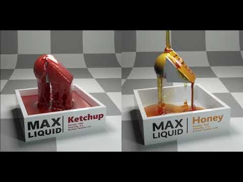 3Ds max - Glass of coca cola & water drops