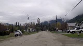 Salmo BC (British Columbia) Canada - Driving in Small Rural Village / Town - Leisurely Tour