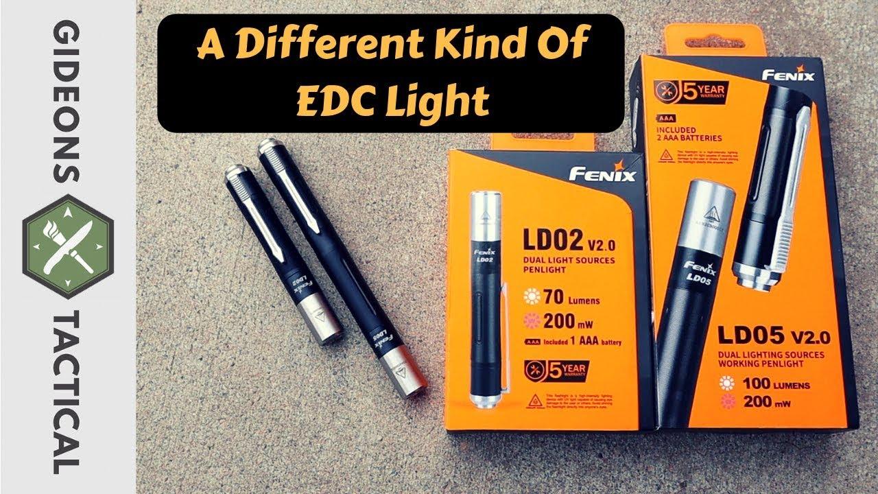 Fenix LD02 V2.0 70LM CREE LED 3000K Lampe Torche 365nm UV LED 200mW AAA Penlight