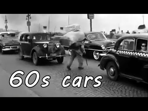1960s cars, cities and traffic footage