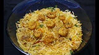 Prawns Biryani - Homemade simple and easy
