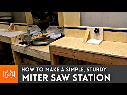 Miter Saw Station // Woodworking How To