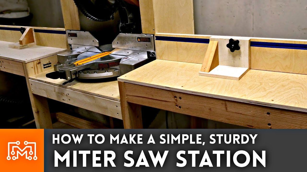 Miter Saw Station Woodworking How To Youtube
