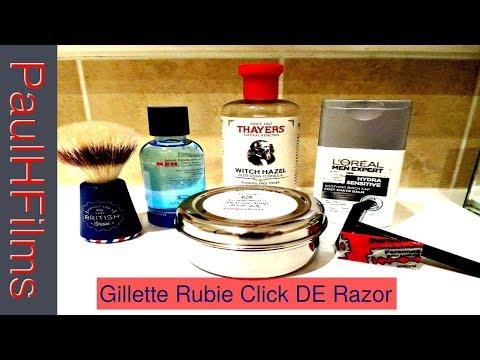 Gillette Rubie Click DE Razor