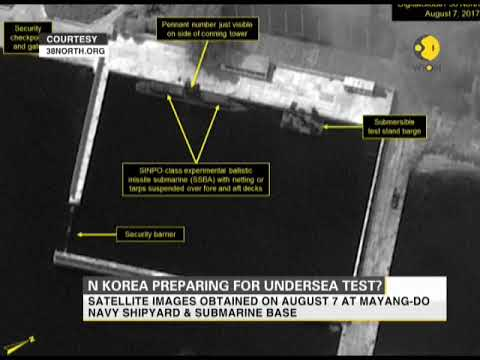 Satellite images hint at North Korea's preparations for submarine missile test