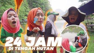 JATUH DI SUNGAI! 4 CEWEK 24 Jam Di Tengah Hutan, Gen Halilintar Girls Rempong, Ketakutan