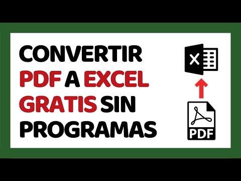 🔴 Cómo Convertir PDF A Excel Sin Programas 2019 (Smallpdf)