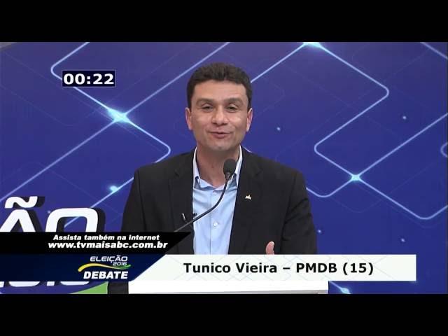 Tunico Vieira em debate da TV+ ABC (01/09/2016)