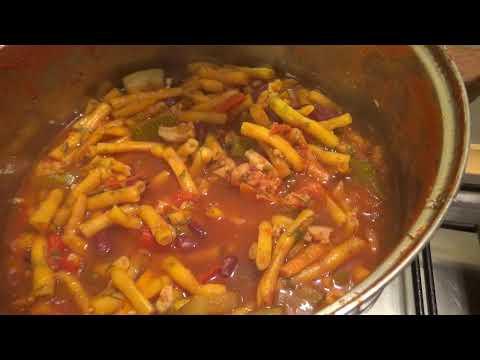 Стручковая фасоль с овощами в томатном соусе на зиму . Реплика лобио.  Эпизод № 98.
