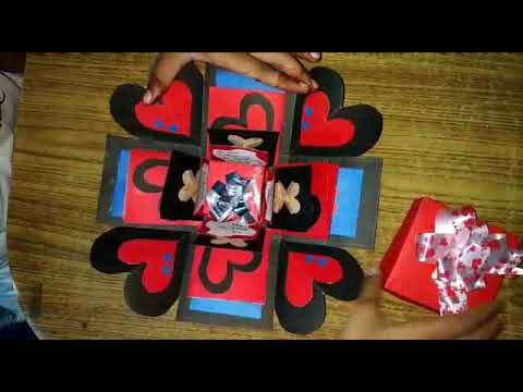 DIY CRAFTS- how to make an exploding box card- explosion paper gift box scrapbooking tutorial🎁😍