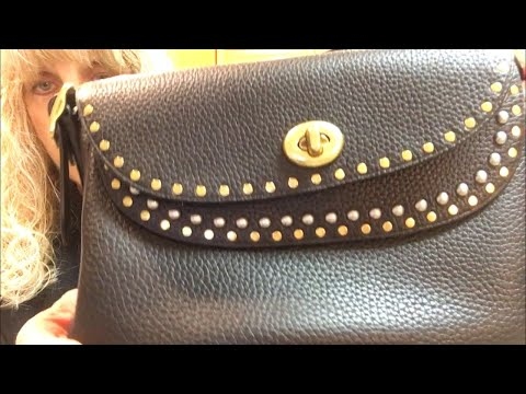 Coach x Tabitha Simmons: Crossbody w Rivets:What Fits Inside-INCLUDED IN COACH HOLIDAY EVENT 30% OFF