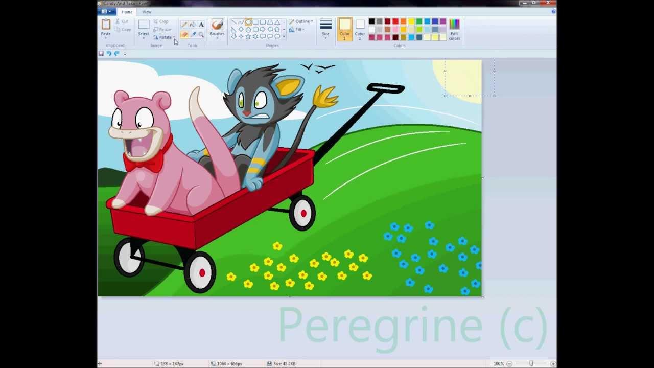 Drawing Pokemon In MS ... Rihanna Songs