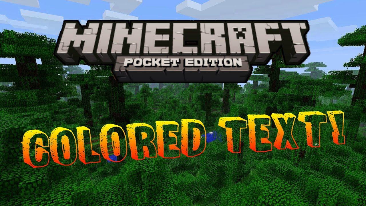 Minecraft Creative Tips Tricks: [BKG]Minecraft PE Tricks:Colored Text