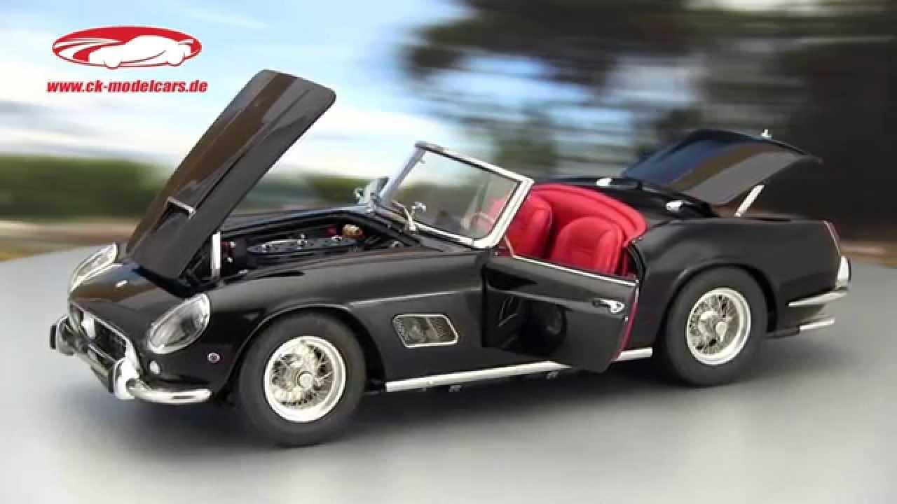Ck Modelcars Video Ferrari 250 Gt California Spyder Swb Baujahr 1960 Black Cmc