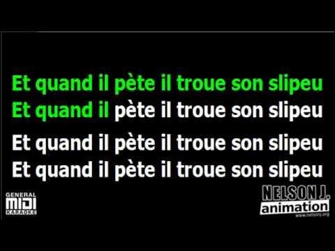 Karaoké - Sébastien Patoche - Quand il pète, il troue son slip