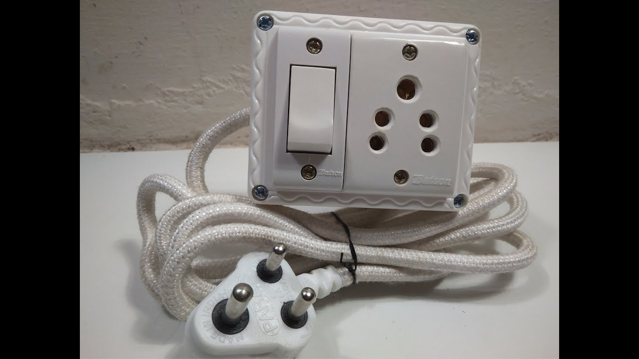 how to make extension cord with switch At Home - YouTube