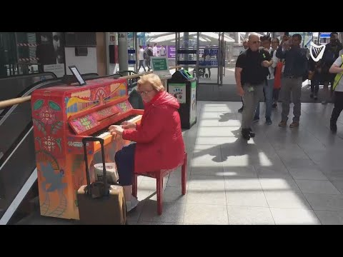 WATCH: Touching moment piano player wows commuters at Connolly Station