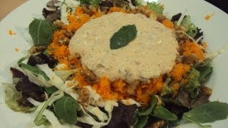 Recipe for Salad with Yogurt Dressing