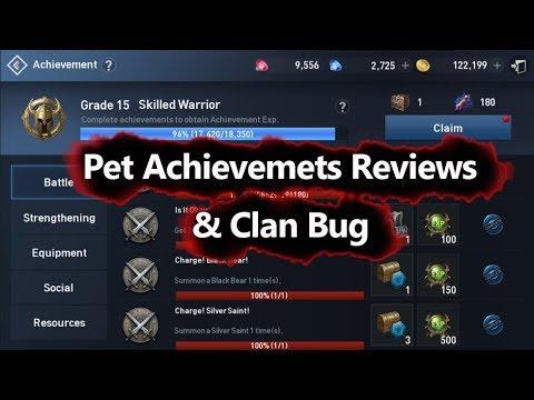 Lineage 2 Revolution New Pet Achievement & Clan Bugs Reviews
