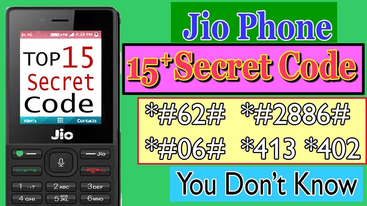 top jio phone secret codes in hindi 2019 | jio secret codes in  hindi|by:hinditrick masti